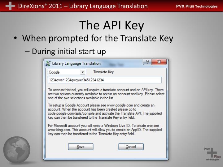 The API Key