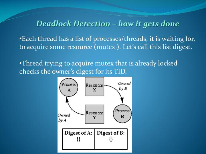 Deadlock Detection – how it gets done