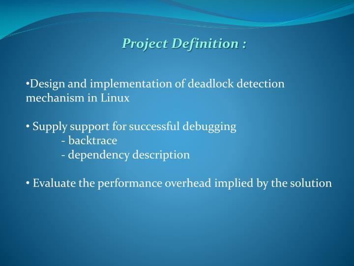 Project Definition :
