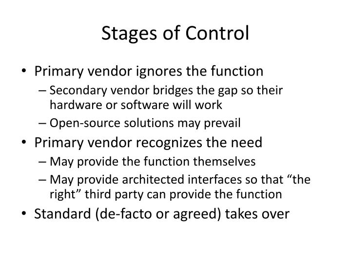 Stages of Control