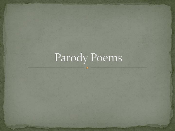 Parody poems