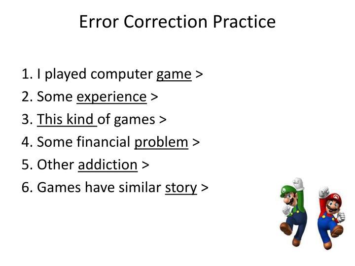 Error Correction Practice