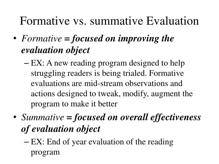 Formative vs. summative