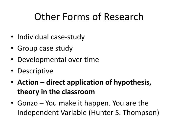 Other Forms of Research