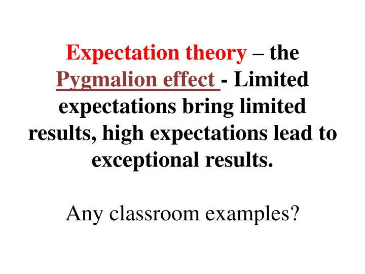 Expectation theory