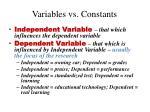 variables vs constants