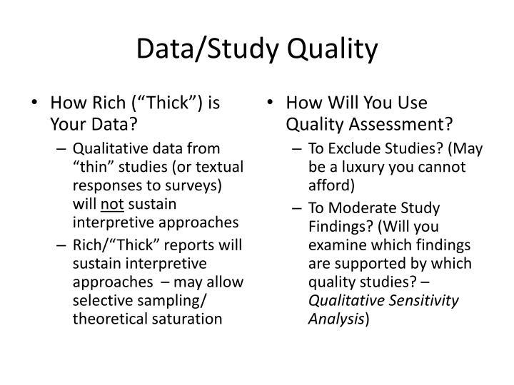 Data/Study Quality