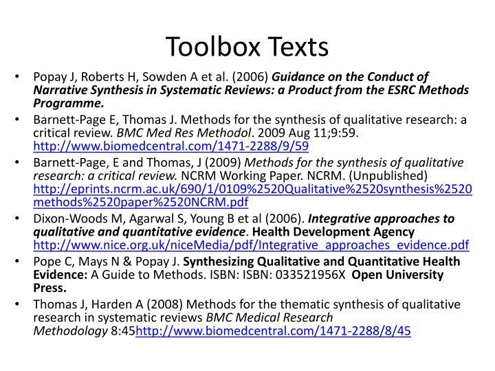 Toolbox Texts