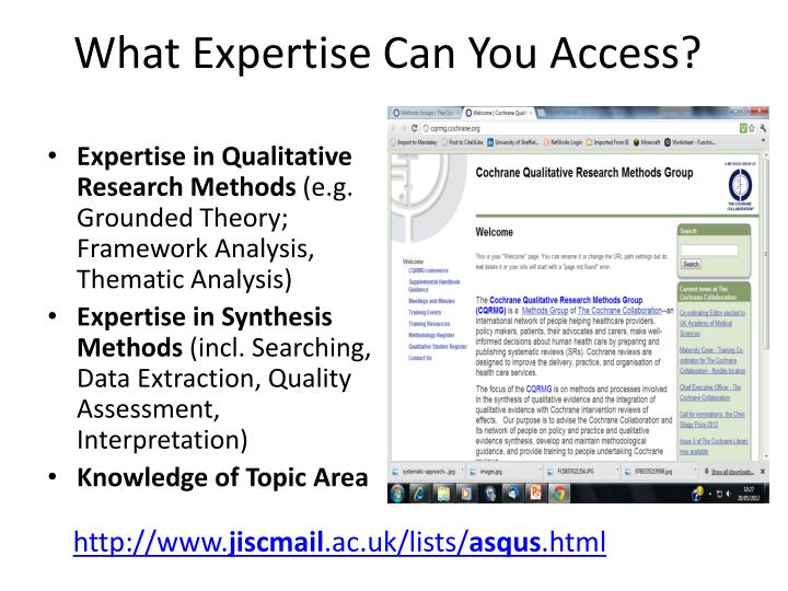 What Expertise Can You Access?