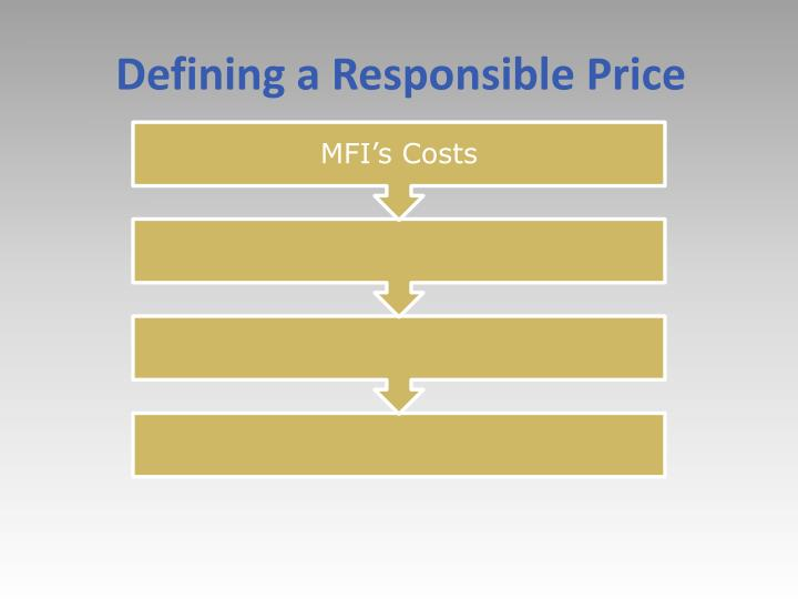 Defining a Responsible Price