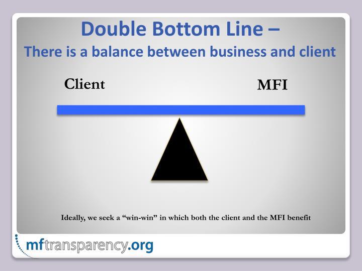 Double Bottom Line –