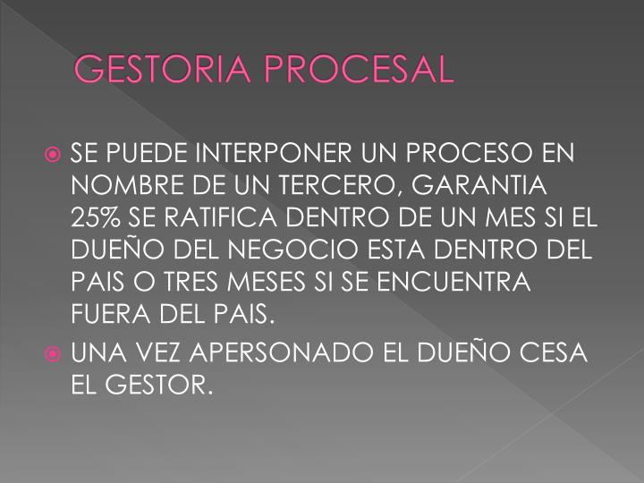 GESTORIA PROCESAL