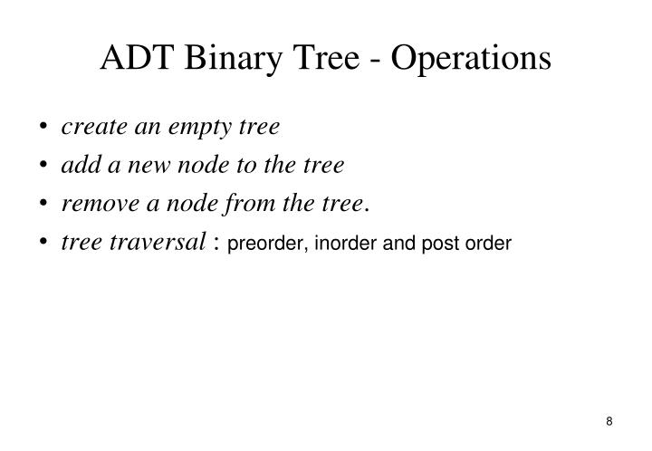 ADT Binary Tree - Operations