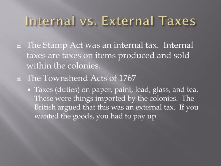 Internal vs. External Taxes
