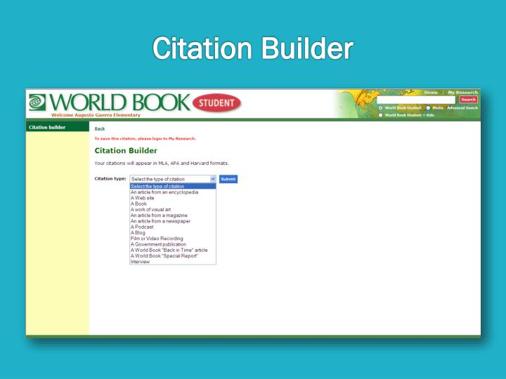 Citation Builder