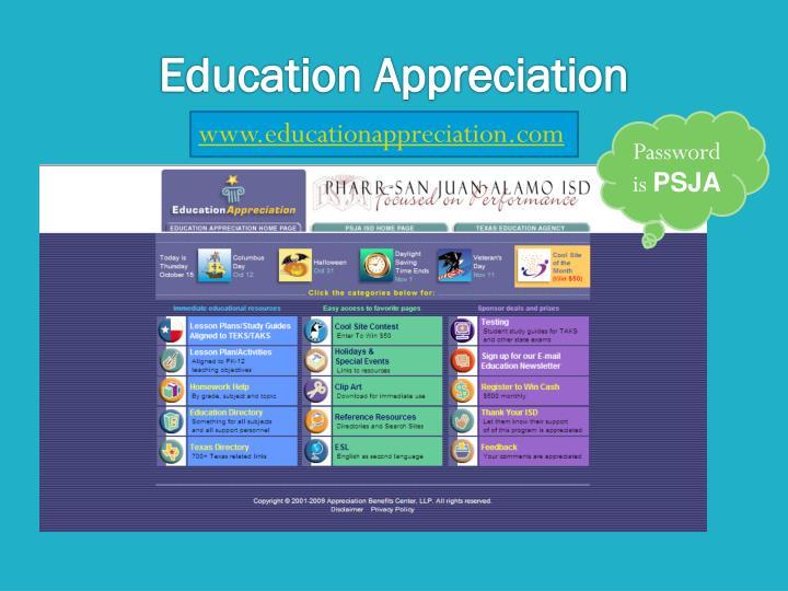 Education Appreciation