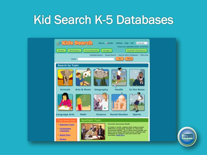Kid Search K-5 Databases