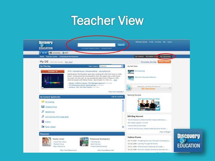 Teacher View