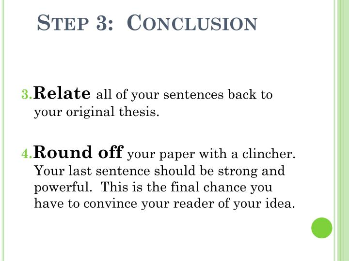 Step 3:  Conclusion
