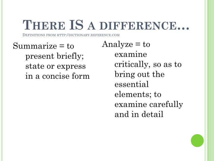 There IS a difference…