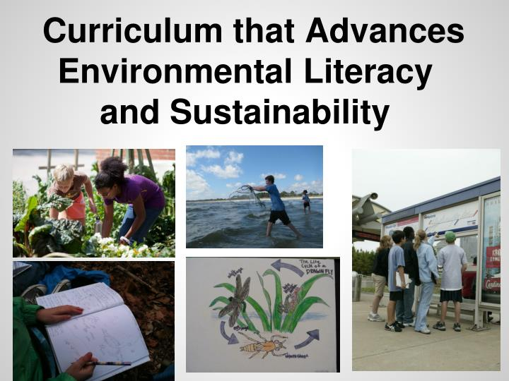 Curriculum that Advances Environmental Literacy and Sustainability