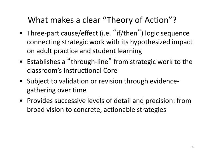 """What makes a clear """"Theory"""