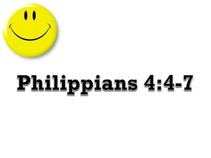 Philippians 4:4-7