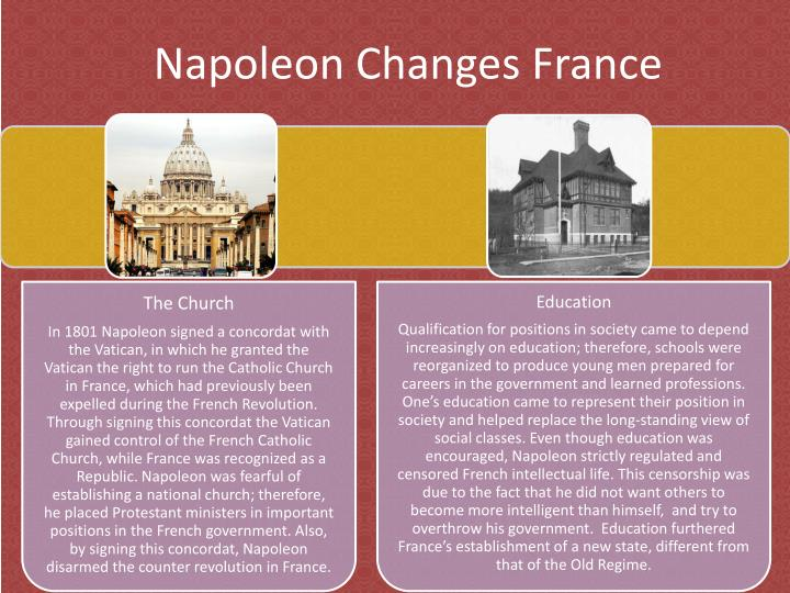 Napoleon changes france