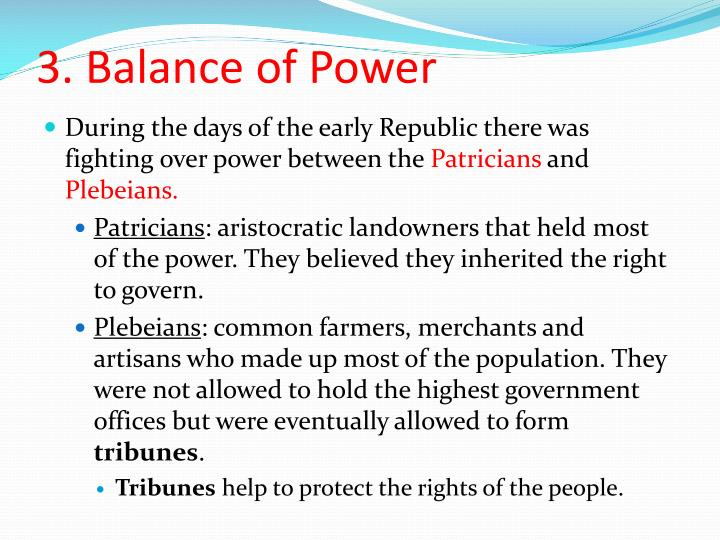 3. Balance of Power