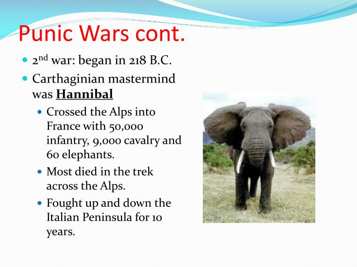Punic Wars cont.