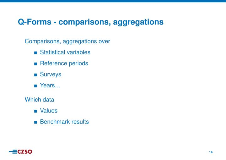 Comparisons, aggregations over