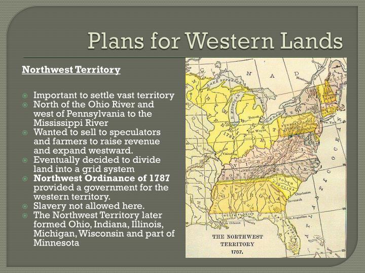 Plans for Western Lands