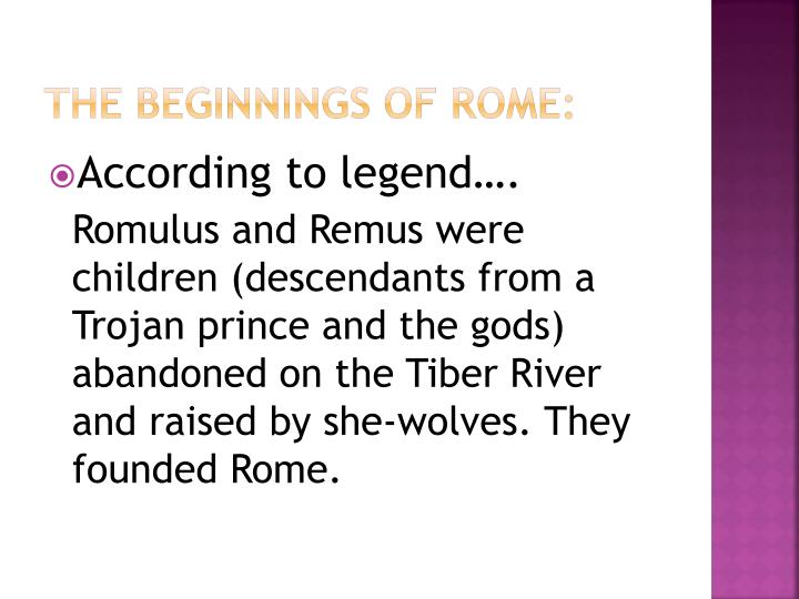 The Beginnings of Rome: