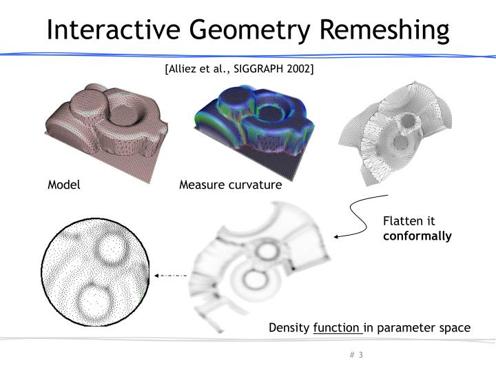 Interactive geometry remeshing