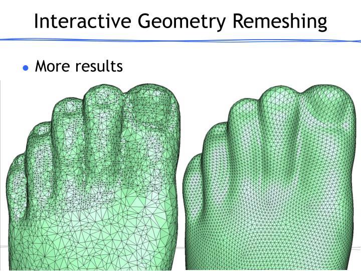 Interactive Geometry