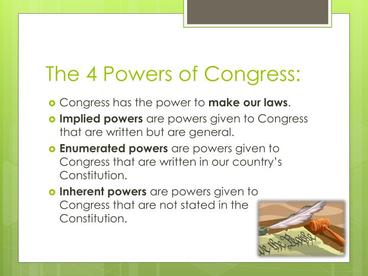 The 4 Powers of Congress: