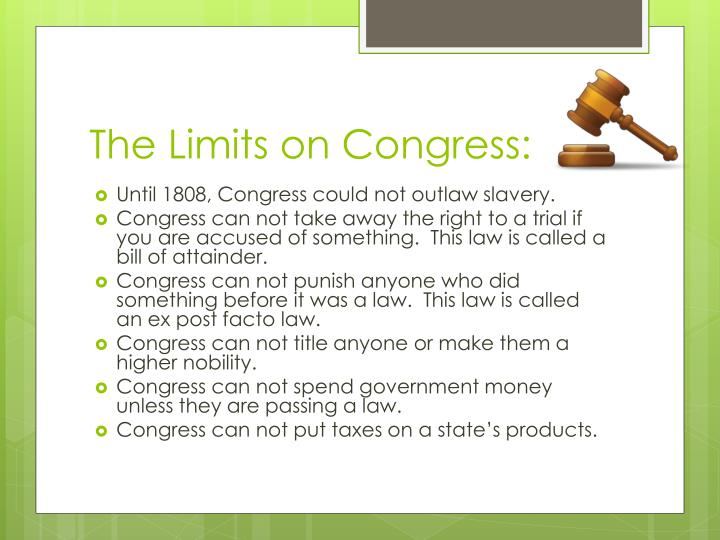The Limits on Congress: