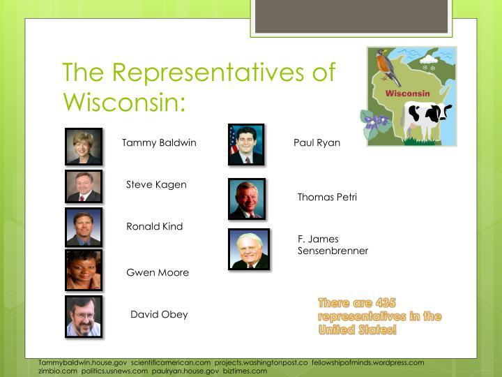 The Representatives of Wisconsin: