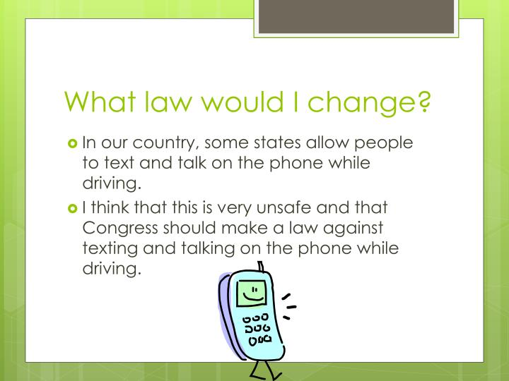 What law would