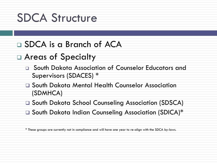 SDCA Structure