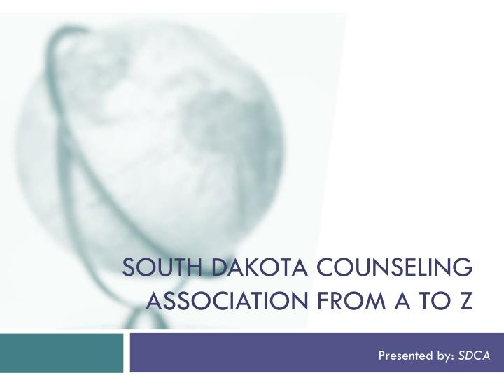 South dakota counseling association from a to z