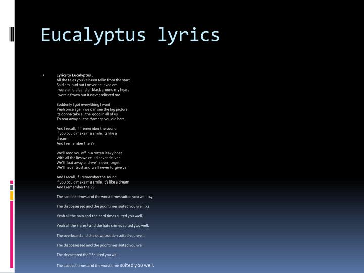Eucalyptus lyrics