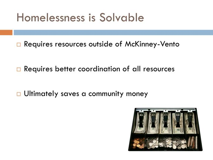Homelessness is solvable