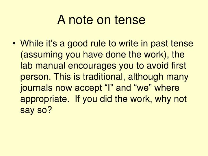 A note on tense