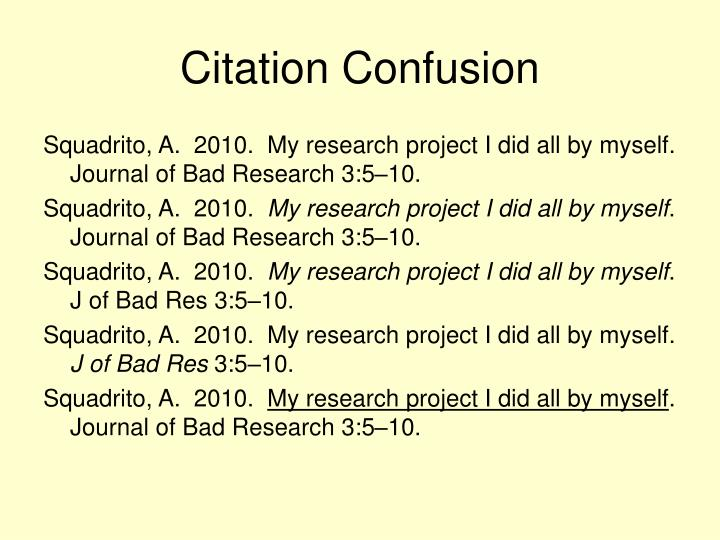Citation Confusion