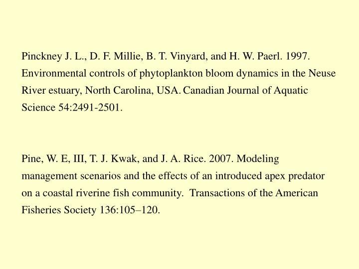 Pinckney J. L., D. F. Millie, B. T.