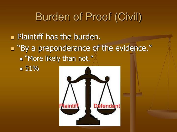 Burden of Proof (Civil)