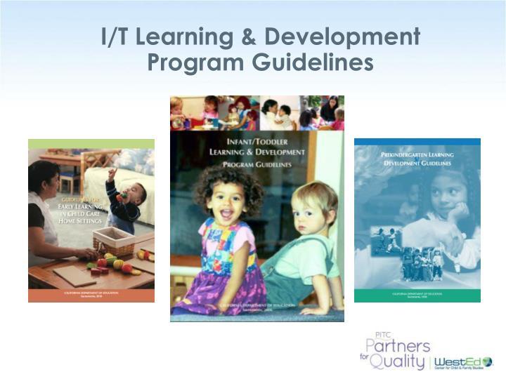 I/T Learning & Development