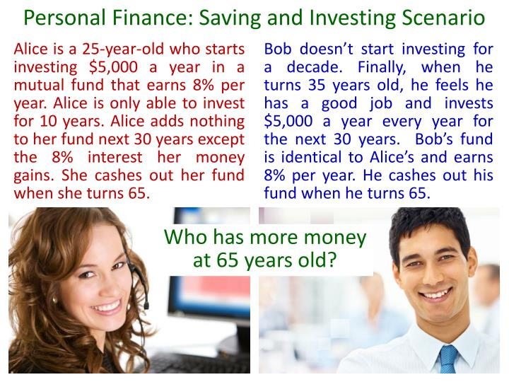Personal Finance: Saving and Investing Scenario