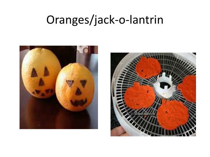 Oranges/jack-o-